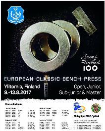 1. Mistrovství Evropy v klasickém (RAW) benčpresu dorostu, juniorů, mužů, žen a masters