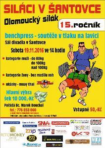 15. ročník soutěže v tlaku na lavici Olomoucký silák