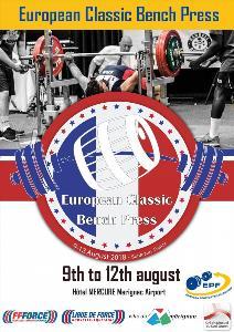 2. Mistrovství Evropy v klasickém (RAW) benčpresu dorostu, juniorů, mužů, žen a masters