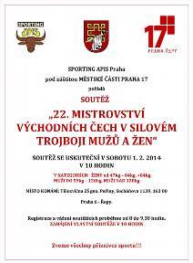 22. Mistrovství Severních a Východních Čech v silovém trojboji mužů a žen