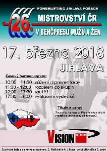 26. Otevřené Mistrovství ČR v benčpresu mužů a žen