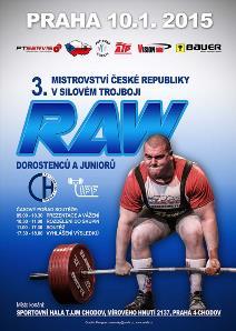 3. Mistrovství ČR v klasickém (RAW) silovém trojboji dorostu a juniorů s mezinárodní účastí