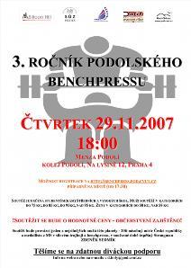 3. ročník Podolského benchpressu