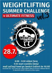 3. ročník Summer Weightlifting Games a Středomoravská liga žen a juniorek - 1. kolo