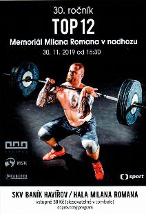 30. ročník TOP 12 mužů a žen v nadhozu - Memoriál Milana Romana