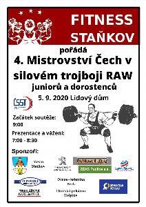 4. Mistrovství Čech v klasickém (RAW) silovém trojboji dorostu a juniorů