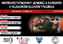 4. Mistrovství Moravy v klasickém (RAW) silovém trojboji dorostu a juniorů