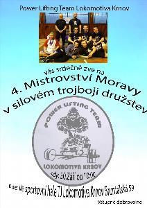 4. Mistrovství Moravy v silovém trojboji družstev