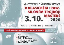 6. Otevřené Mistrovství ČR v klasickém (RAW) silovém trojboji masters