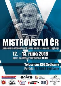 7. Mistrovství ČR v klasickém (RAW) silovém trojboji dorostu a juniorů
