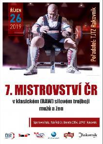 7. Mistrovství ČR v klasickém (RAW) silovém trojboji mužů a žen
