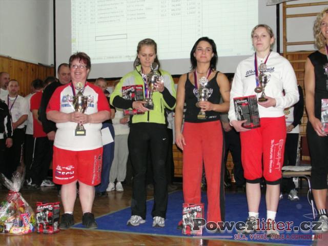 Absolutní pořadí - ženy 1-4.místo