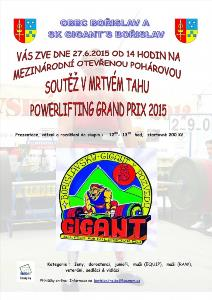 Bořislavský GIGANT v pozvedu 2015
