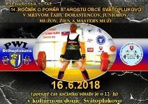 Cedron Cup 2018 - 14. ročník súťaže o pohár starostu v mŕtvom ťahu