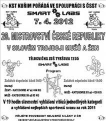 20. Mistrovství ČR v silovém trojboji mužů a žen