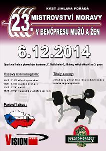 23. Mistrovství Moravy v benčpresu mužů a žen