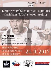 1. Mistrovství Čech v klasickém (RAW) silovém trojboji dorostu a juniorů