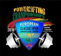 4. Mistrovství Evropy v klasickém (RAW) silovém trojboji dorostu, juniorů, mužů a žen