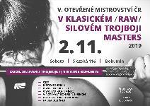 5. Otevřené Mistrovství ČR v klasickém (RAW) silovém trojboji masters