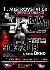 Pozvánka na 1. Mistrovství ČR RAW v silovém trojboji s mezinárodní účastí, Brno