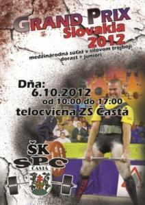 Grand Prix Slovakia 2012 - súťaž v silovom trojboji dorastencov a juniorov