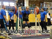 Libor Novák, dřep 220kg