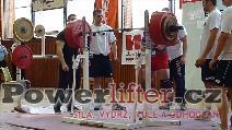 Petr Theuser, dřep 350kg, úctyhodný pokus M2 -105kg