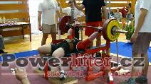 Jakub Sedláček, 212,5kg, český juniorský rekord do 82,5kg