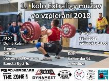 Extraliga mužov vo vzpieraní družstiev - 1. kolo