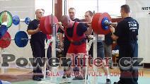 Jakub Gallo, pokus o dřep 340kg, junior do 120kg