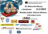 Pozvánka na 20. Mistrovství Moravy v benčpresu mužů a žen, Ostrava - Vítkovice