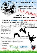Pozvánka na Bomba Gym Cup 2012 - benchpress, mrtvý tah, Praha