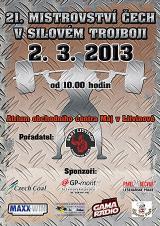 Pozvánka na 21. Mistrovství Čech v silovém trojboji mužů a žen, Litvínov