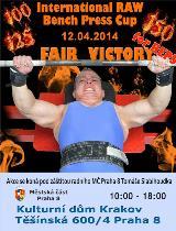 Pozvánka na Fair Victory 2014 - benč na výkon i na počet opakování, Praha