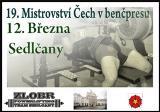 Pozvánka na 19. Mistrovství Čech v benčpresu mužů a žen, Sedlčany