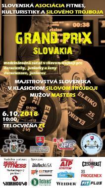 Grand Prix Slovakia 2018 - súťaž v silovom trojboji dorastencov a juniorov
