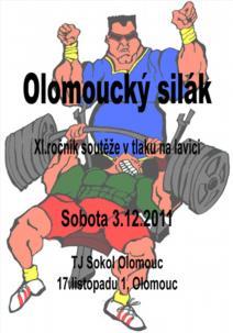 11. ročník soutěže v tlaku na lavici Olomoucký silák