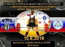 Cedron Cup 2019 - 15. ročník súťaže o pohár starostu v mŕtvom ťahu