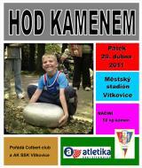 Pozvánka na 3. ročník hodu kamenem, Ostrava - Vítkovice