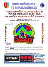 Pozvánka na Bořislavský Gigant v pozvedu, 2012