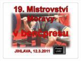 Pozvánka na 19. Mistrovství Moravy v benčpresu mužů a žen, Jihlava