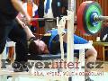 Lukáš Tkadlec, benč 200kg, junior do 83kg