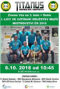 I. Liga mužů ve vzpírání družstev - 3. kolo