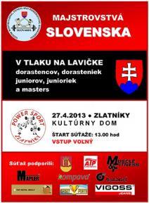 Majstrovstvá Slovenska v tlaku na lavičke dorastencov, juniorov a masters