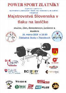 Majstrovstvá Slovenska v tlaku na lavičke dorastencov, juniorov, mužov, žien a masters