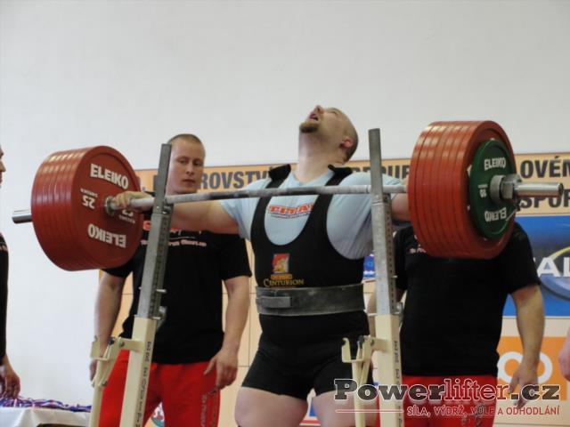 Milan Špingl, dřep 395kg