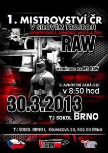 1. Mistrovství ČR v klasickém (RAW) silovém trojboji s mezinárodní účastí