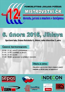 12. Mistrovství ČR v benčpresu dorostu, juniorů a masters
