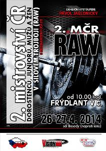 2. Mistrovství ČR v klasickém (RAW) silovém trojboji s mezinárodní účastí
