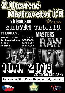 2. Otevřené Mistrovství ČR v klasickém (RAW) silovém trojboji masters